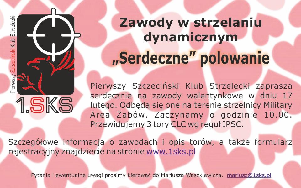 """2018.02.17 – Zawody w strzelaniu dynamicznym """"Serdeczne"""" polowanie"""