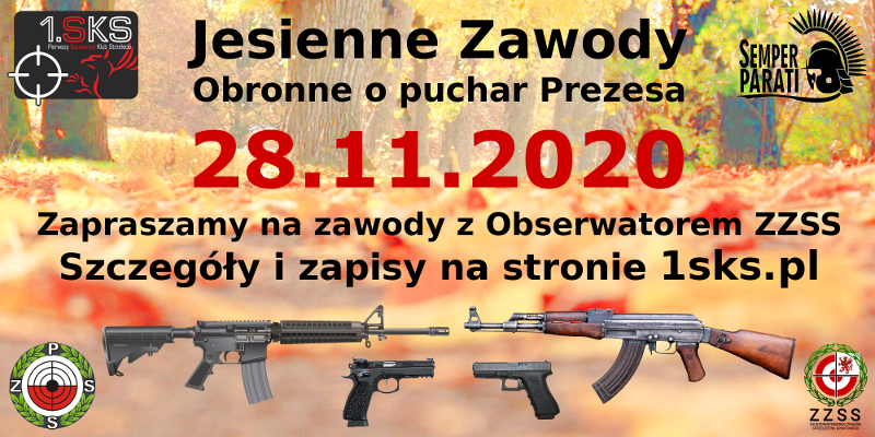 Read more about the article 2020-11-28 – Jesienne zawody obronne o puchar Prezesa